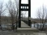 Рубцовск Весна. Набережная до схода льда. Мост.