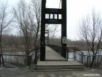 Весна. Набережная до схода льда. Мост.