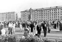 Открытие памятника Ленину (прислал Гутов Игорь) 1960г.