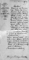 Спрака о разрешении о поселении Рубцову 1892г.